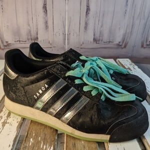 Adidas Samoa womens Shoes sneakers green striped b